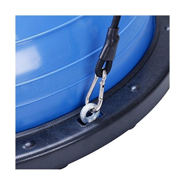 BuoQua Mezza Sfera Cupola Palla 60cm Balance Trainer Equilibrio Azzurro Palla Balance Trainer con Cinghie Laterali E… 4 spesavip