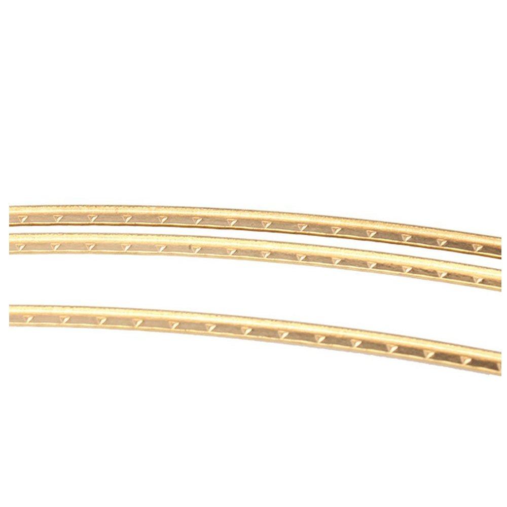SODIAL 8ft Golden copper Fret Wire For Mandolin Banjo Cigar Box Guitar 1.5mm