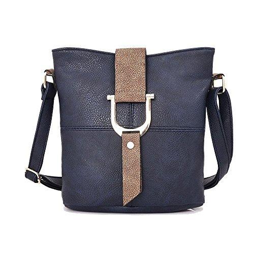 Haute Buckled for Diva Flap Blue Women Blue Bag Crossbody FRFwaxgnqr