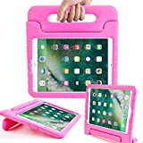 Surom New iPad 9.7 Inch 2017 Case - ShockProof Case Light Weight Kids Case Cover with Handle Stand Case for Apple iPad 9.7 Inch 2017 New Model - Rose Pink