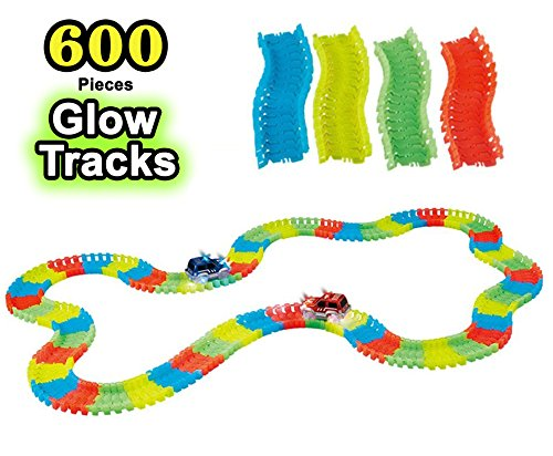 Glow in the Dark Flexible Replacement Race Tracks Expansion Pack (600 Pieces) TRACKS ONLY