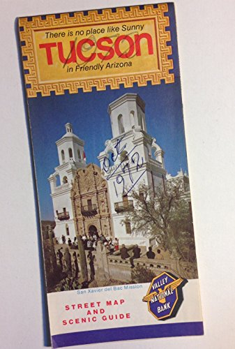 Vintage Original 1972 Valley National Bank Street Map  Scenic Guide  Road Map Of Tucson  Arizona