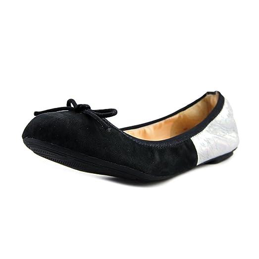 Good Sale Womens Shoes Cole Haan Manhattan Demi Ballet Black Nubuck/Silver Crackle