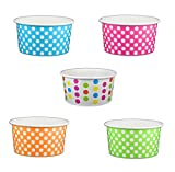 6 oz ice cream paper cups - Black Cat Avenue Paper Ice Cream Cups, Polka Dot, Mix, 6 Ounce, 50 Count