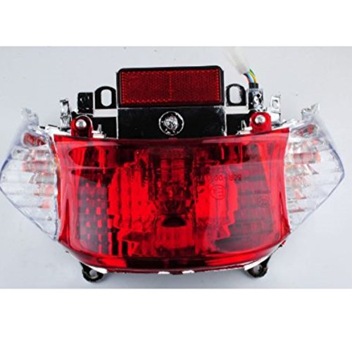 GY6 50cc Scooter Tail Light Assembly Chinese Scooter Parts Tao Tao Peace Sports by Hot Street