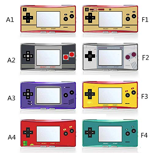 Faceplate Label Sticker for Gameboy Micro GBM Console Housing Front Cover Skin (A1)