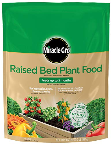 Miracle-Gro 3330110 Raised Bed Plant Food, 2 Lbs