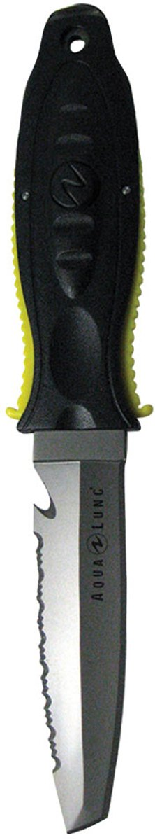 Aqua Lung Big Squeeze Titanium Tanto Knife Charcoal