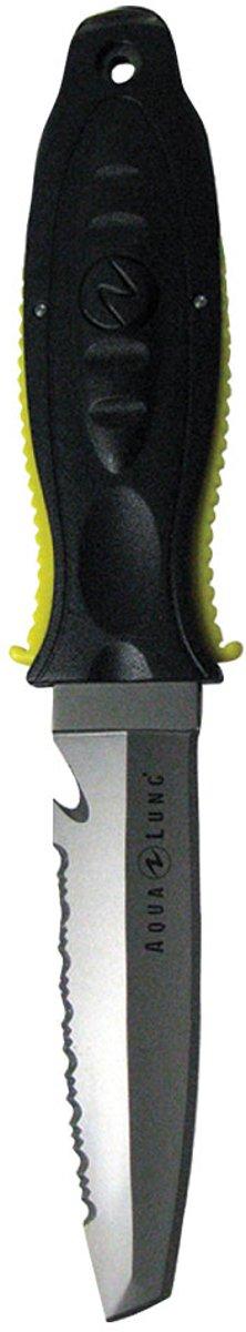 Aqua Lung Big Squeeze Titanium Tanto Knife Yellow