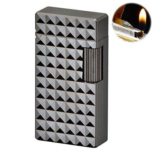 ガスライター サロメ sd 真鍮 フリントライター SAROME サロメ SD1-69 ガンメタル ダイヤモンドヘッド B01NAVTBH0
