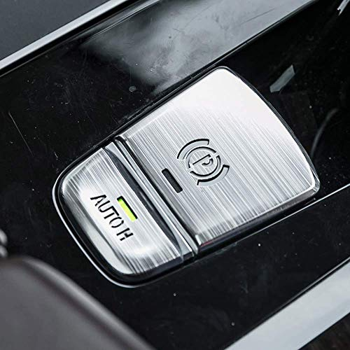 Atb Trim - Aluminum Car Electronic Handbrake Auto H Button Cover Trim for BMW 5 series G38 G30 2017 2018 P Buttons G01 X3 2018