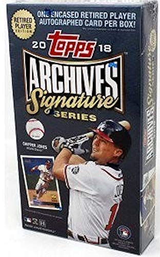 2018 Topps Archives Signature Series Baseball Retired Edition Hobby Box Pack - 1 Autographed Card! -