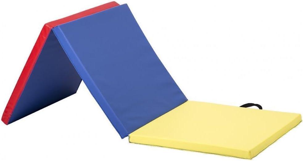 24インチ x 72インチ 3パネル 折りたたみ式 三つ折り体操マット