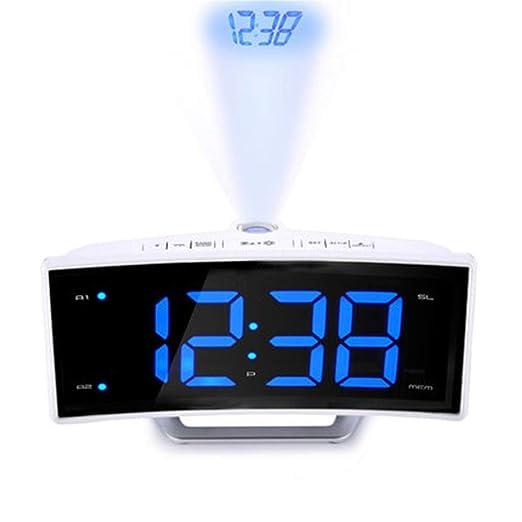 QZTG Despertador Digital Espejo Radio FM Reloj Despertador ...