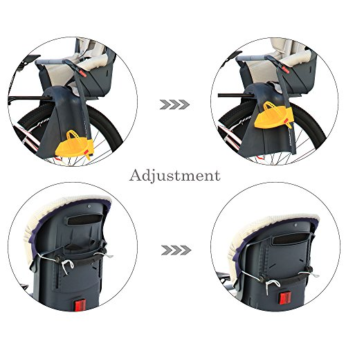 CyclingDeal Bicycle Kids child Rear Baby Seat bike Carrier USA Standard With Adjustable Seat Rest Height by CyclingDeal (Image #5)