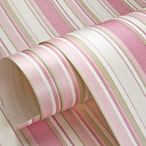modern simply wallpaper /Pink vertical stripes nonwoven wallpaper/ Princess room children's room wallpaper/ girl in the bedroom wallpaper-C