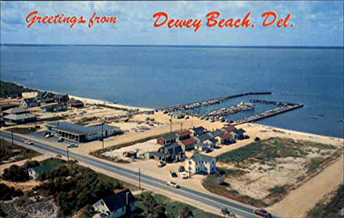 Aerial View Of Dewey Beach Dewey Beach, Delaware Original Vintage Postcard by CardCow Vintage Postcards