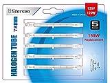 lightbulbs 120v 150w - Starsea Shop 5Pack - 78mm J Type Double Ended T3 Halogen Light Bulbs, 120 Watt 120 Volt (150 Watt Halogen Bulb Replacement), Energy-Saving 20%