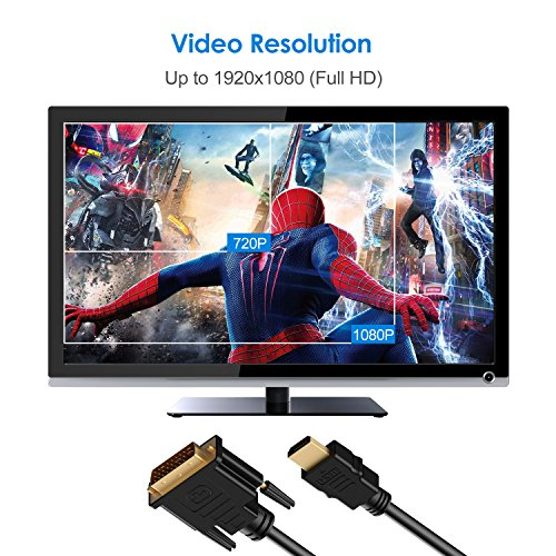 HDMI to DVI Cable, Rankie 2-Pack 6FT CL3 Rated High Speed Bi-Directional HDMI HDTV to DVI Cable (Black) - R1107D by Rankie (Image #2)