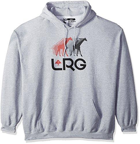 (LRG Men's Front Runners Hoody Sweatshirt, ash Heather, XL)