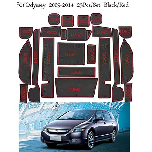 (23PCS/Set Car Door Groove Mat Replacement for Honda Odyssey 2009-2014 Accessories Rubber Gate Slot Pad Non-Slip Mats)