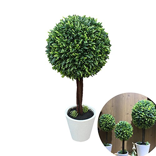 Potted Artificial Plants Plastic Fake Tree Plants Bushes Artificial Shrubs Plants Artificial Potted Plants for Outdoors Home Decor by Shareculture