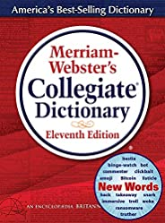 Merriam-Webster's Collegiate Dictionary, 11th Edition, Jacketed Hardcover, Indexed, 2020 Copyr