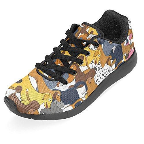 InterestPrint Womens Jogging Running Sneaker Lightweight Go Easy Walking Casual Comfort Sports Running Shoes Cute Cartoon Dogs Breeds Multi 1 D70JfKoBBr