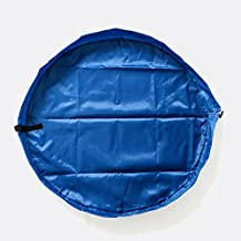 Diameter 85cm Children's Play Mat/ Toys Storage Bag and Floor Activity Mat/Toys Organizer Quick Pouch-Perfect for Storing Small and Medium-Size Toys (Blue, Diameter 85cm)