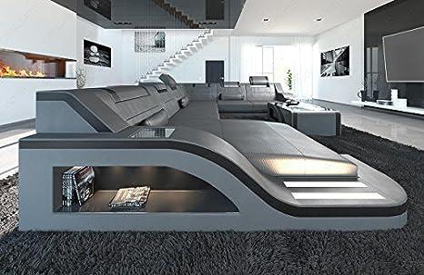 Interni Casa Grigio : Pelle interni casa paalermo xxl grigio nero amazon casa e cucina