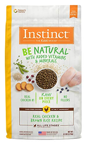 Instinct Be Natural Real Chicken & Brown Rice Recipe Natural Dry Dog Food By Nature'S Variety, 25 Lb. Bag ()