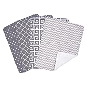 Trend Lab Ombre Gray Bouquet 4 Piece Burp Cloth Set