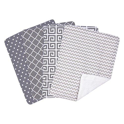 (Trend Lab Ombre Gray Bouquet 4 Piece Burp Cloth Set)