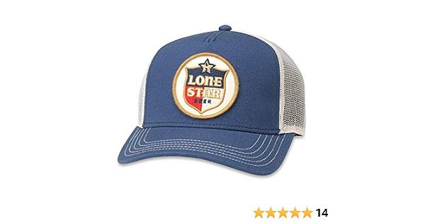 AMERICAN NEEDLE Lone Star Beer Riptide Valin Adjustable Snapback Trucker Hat Navy//White
