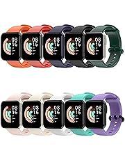 FunBand Compatibel met Xiaomi Mi Watch Lite/Redmi Watch Lite Strap, zachte siliconen fitness sport vervanging fitness armband siliconen vervangende bandjes voor Xiaomi Mi Watch Lite/Redmi Watch Lite