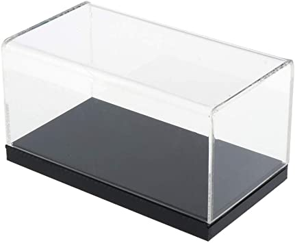 1//24 Scale Diecast Model Car figure Acrylic Display Case with Black Base new