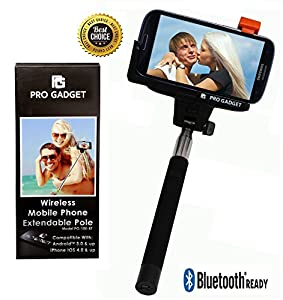 Xtra Extendable Xtra Strong Selfie Stick Bluetooth, iSnap X Extendable Monopod with Built-in Bluetooth Remote Shutter for iPhone 8/7/7P/6s/6P/5S, Galaxy S5/S6/S7/S8, Google, LG V20, Huawei…