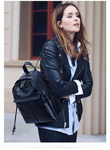 Dames Sac Souple à Mode MSZYZ Black sous Petit Dos Femme contrat Cuir Bandoulière en pour Sac Sac Bgnd8q