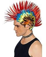 Smiffy's Street Punk 80s Mohawk Wig