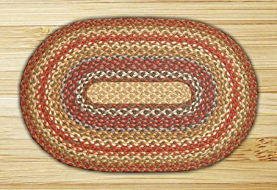 Earth Rugs 07-300 Oval Rug, 5 x 8', Honey/Vanilla/Ginger