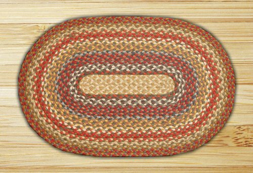 Earth Rugs C-300 Oval Shaped Rugs, 20 by 36, Honey/Vanilla/Ginger 20 by 36 Earth Rugs -- DROPSHIP us furniture EAW3S