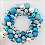 OOFYHOME Christmas ball, decorative ball, string flower ring Hydrangea, decorative pendant, Christmas tree decoration, window scene props lob , E