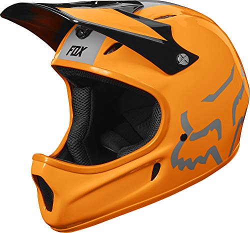 Fox Head Rampage Adult Full Face Bike Helmet (Atomic Orange, Medium)