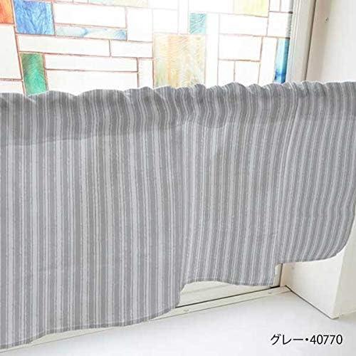 生活 雑貨 インテリア関連 カフェカーテン アイビーストライプ 800×450mm 黄