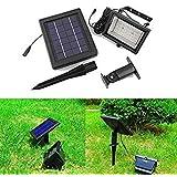 Deckey Faro 30 LED Da Terra, Faretto Automatico Con Sensore Di Luce, Pannello A Energia Solare Lampada Esterna Giardino, Luce Bianca Impermeabile Per Sicurezza