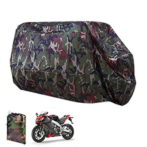 surepromise XL Motorcycle Motorbike Waterproof Dustproof Cover Scooter Waterproof UV Protector Camouflage