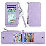 Leather Card Wallet,Slim RFID Blocking Credit Card Case Wallet Sleeve for Girls