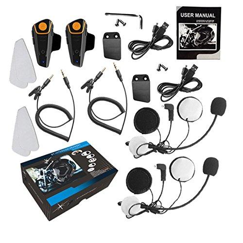 Intercom Moto Oreillette Bluetooth Kit Moto Main Libre. BT-S2 800m Ecouteur  Bluetooth  1c92553c4b76