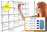 36'' x 48'' Laminated Jumbo Dry Erase Monthly Wall Calendar, 3ft x 4ft by ItsyBitsy247