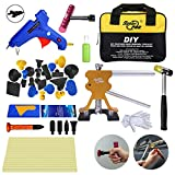 AUTOPDR 35Pcs DIY Car Body Paintless Repair Removal Tools Paintless Hail Repair PDR Dent Lifter Puller Ding Removal Tools